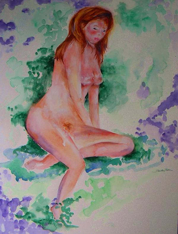 Eve Art Print featuring the painting Eve by Sandy Ryan