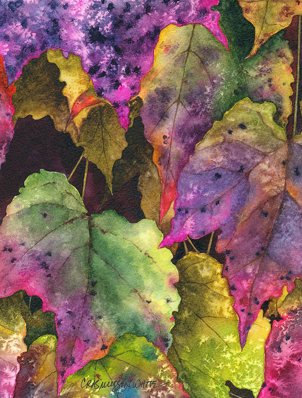 Watercolor Print featuring the painting Fallen by Casey Rasmussen White