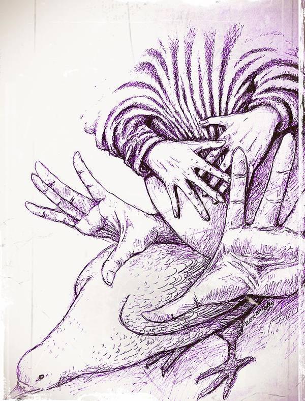 Pregnancy Art Print featuring the digital art Fecundate A Future Of Peace by Paulo Zerbato