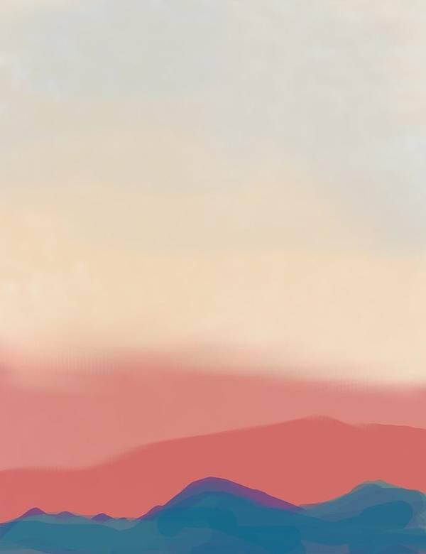 Landscape Art Print featuring the digital art Four Colors by Margot Paisley