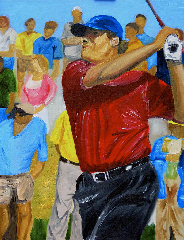 Golf Art Print featuring the painting Four by Michael Lee