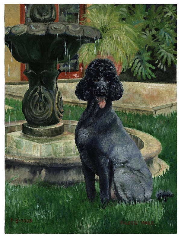 Portrait Art Print featuring the painting Frankie by Eileen Hale