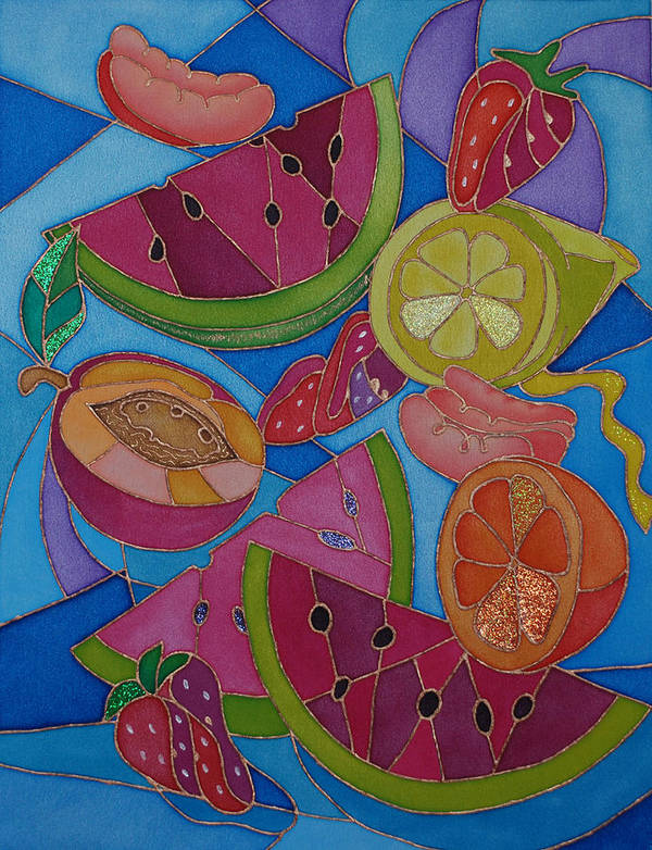Still Life Art Print featuring the painting Fruit Mix by Tatiana Antsiferova