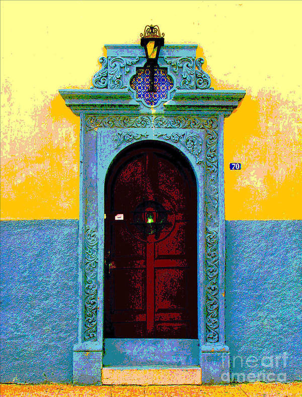 Darian Day Art Print featuring the photograph Graceful Door By Darian Day by Mexicolors Art Photography