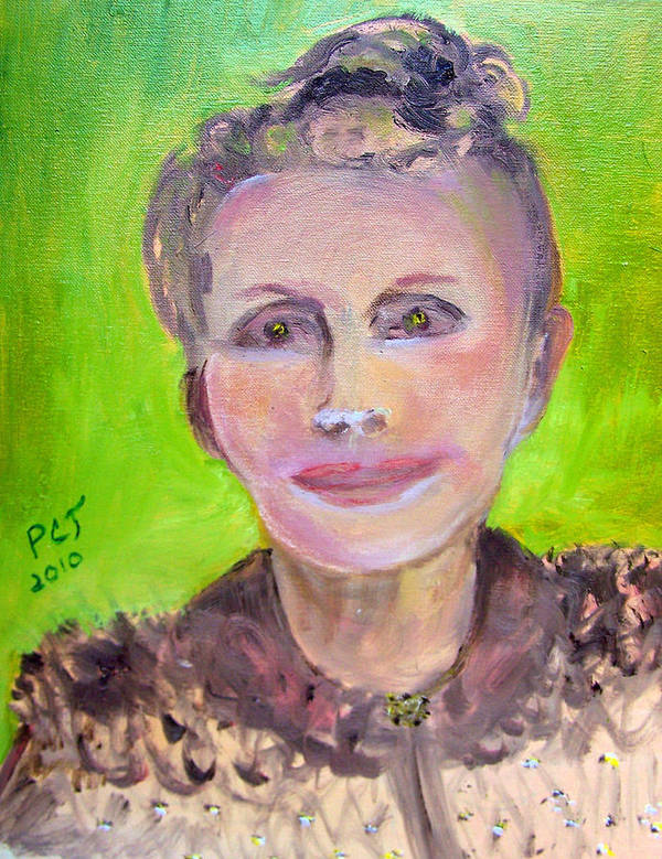 Woman Art Print featuring the painting Great Grandmother Adora by Patricia Taylor