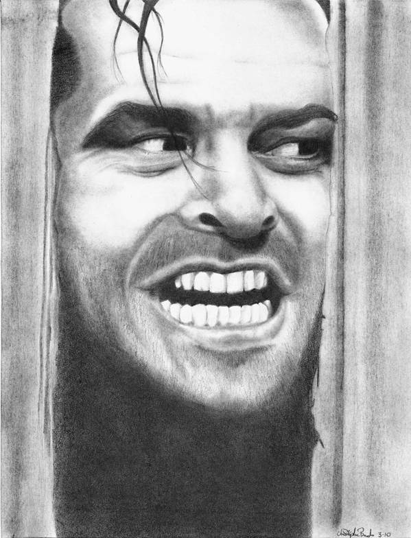 Jack Art Print featuring the drawing Heeeres Johnny by Christopher Brooks