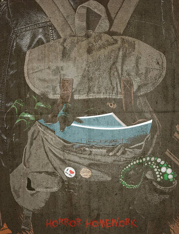 Art Print featuring the digital art Horror Homework by Clinton Lofthouse