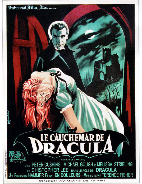 1950s Poster Art Art Print featuring the photograph Horror Of Dracula Aka Le Cauchemar De by Everett