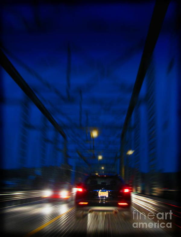 Bridge Art Print featuring the photograph I'd Drive All Night by Colleen Kammerer