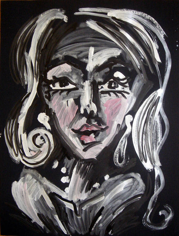 Woman Art Print featuring the painting In The Night by Jenni Walford