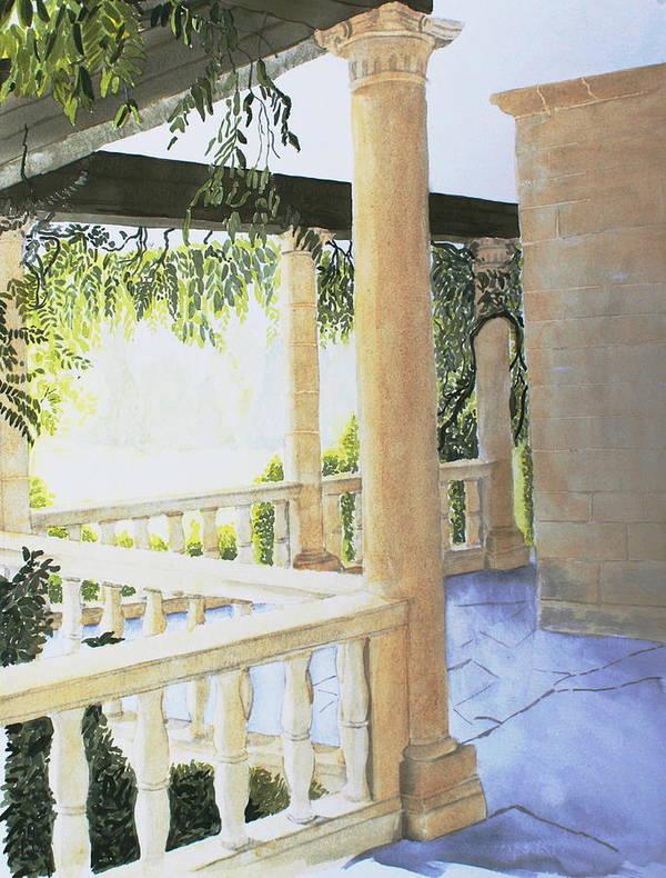Garden Art Print featuring the painting Irish Romance 2 by Frank Hamilton