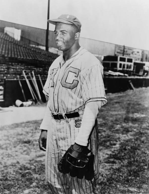 History Art Print featuring the photograph Jackie Robinson 1919-1972 In Kansas by Everett