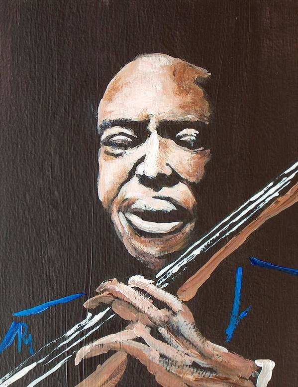 Jazz Art Print featuring the painting Jimmy Garrison by Pete Maier