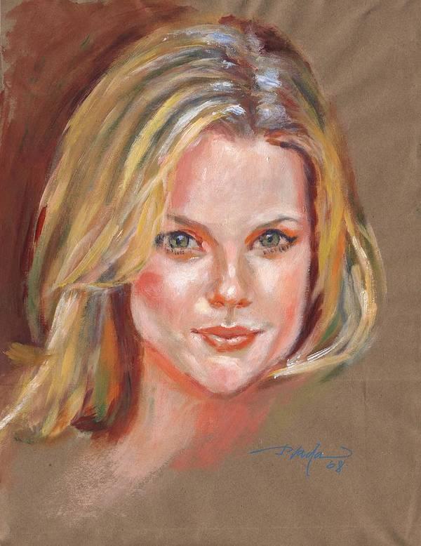 Portrait Art Print featuring the painting Joanna by Horacio Prada