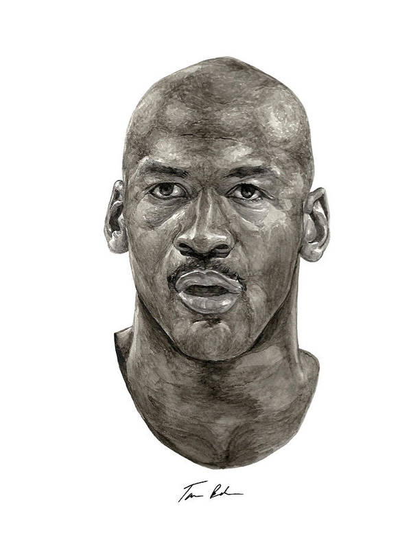 Michael Jordan Art Print featuring the painting Jordan by Tamir Barkan