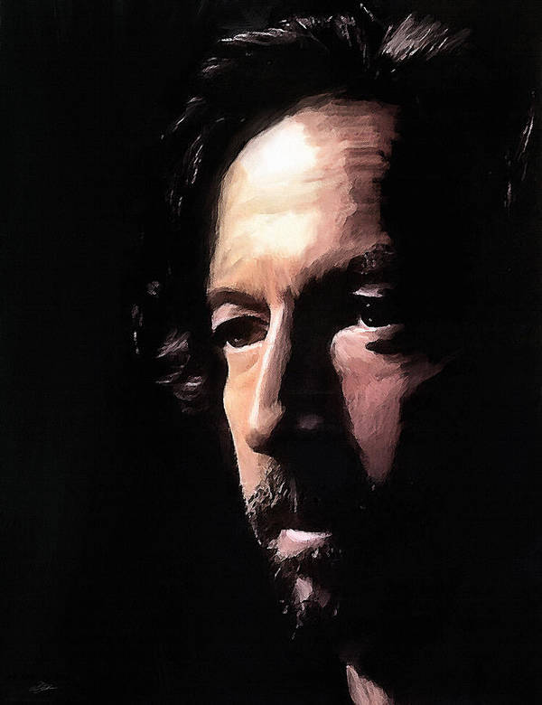 Eric Clapton Art Print featuring the digital art Journeyman by Peter Chilelli