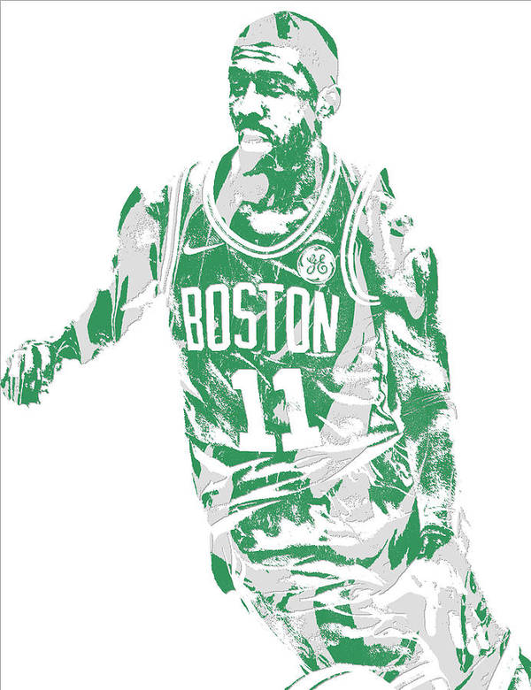 e48521a78b1a Kyrie Irving Boston Celtics Pixel Art 6 Art Print by Joe Hamilton