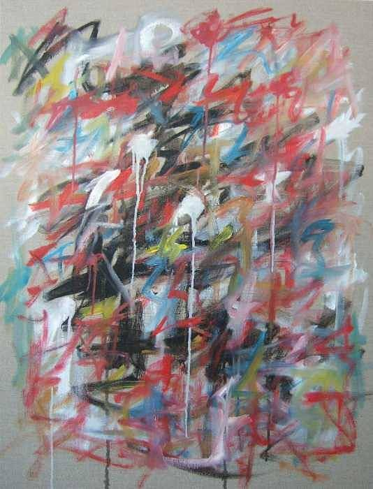 Abstract Art Print featuring the painting Large Abstract No 4 by Michael Henderson