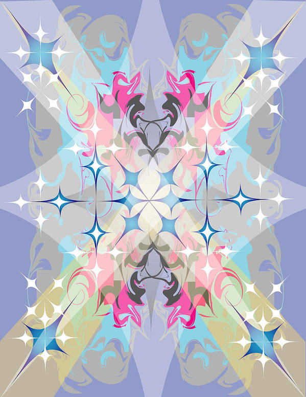 Digital Art Print featuring the digital art Lightshow by George Pasini