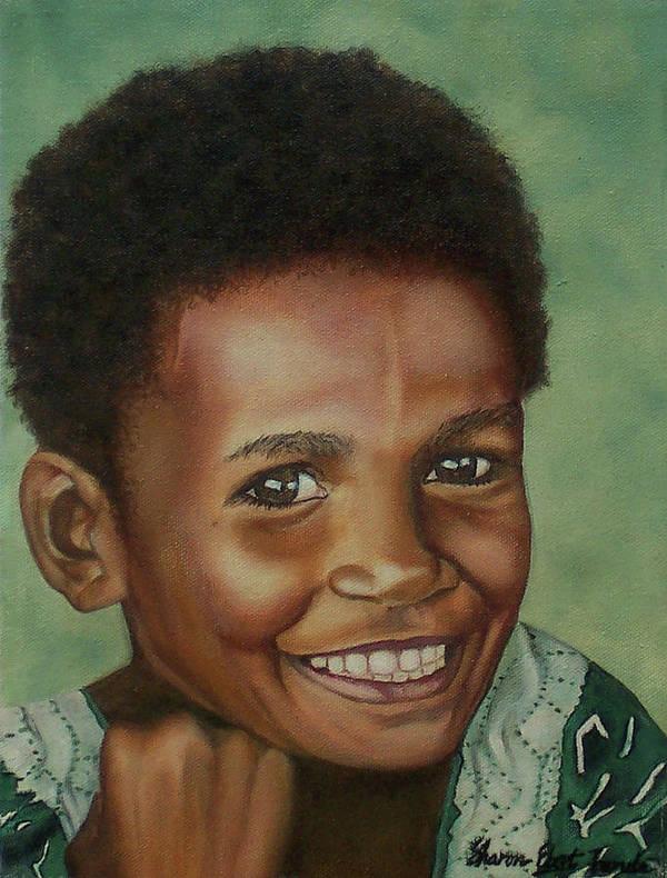 Portrait Art Print featuring the painting Little Alis by Sharon Ebert
