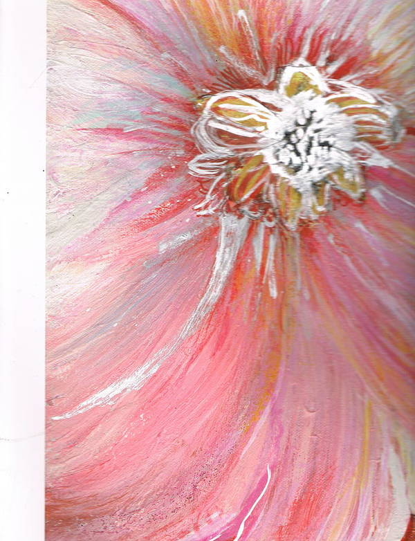 Pink Art Print featuring the mixed media Lonely Teardrop by Anne-Elizabeth Whiteway
