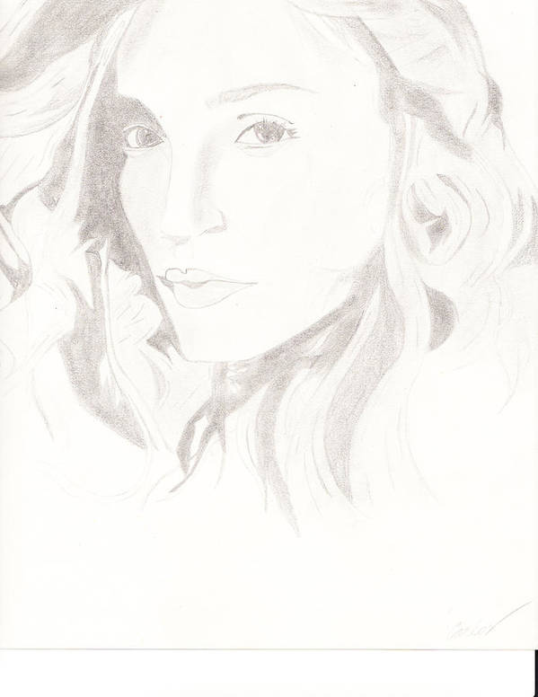 Celebrities Art Print featuring the drawing Madonna by Carlos Hyman