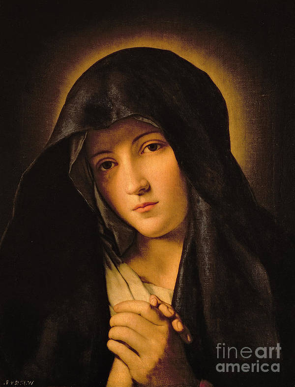 Mary Art Print featuring the painting Madonna by Il Sassoferrato