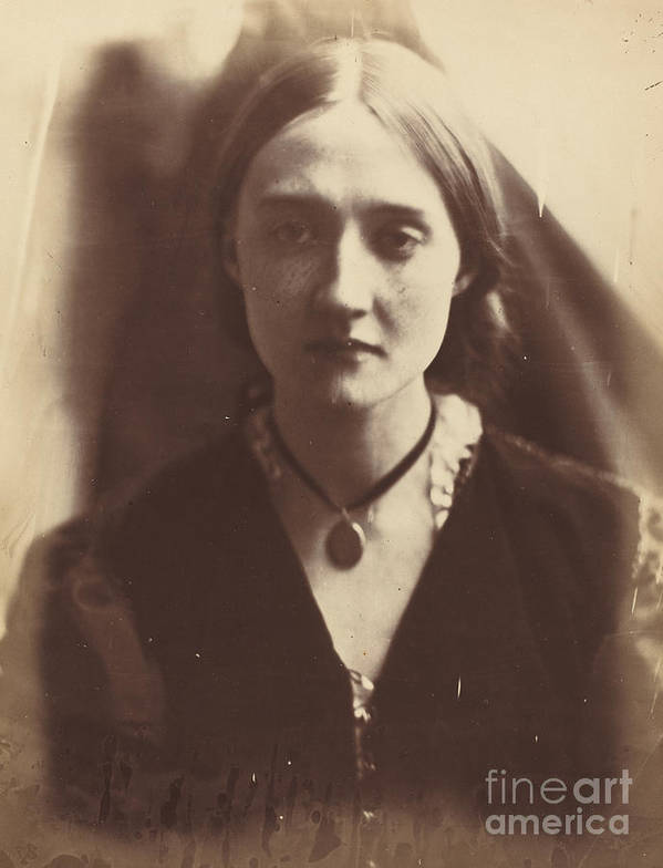 Art Print featuring the photograph Mary Fisher by Julia Margaret Cameron