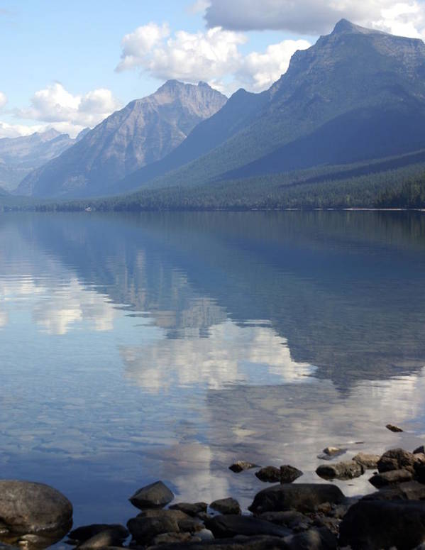 Lake Mcdonald Art Print featuring the photograph Mcdonald Reflection by Marty Koch