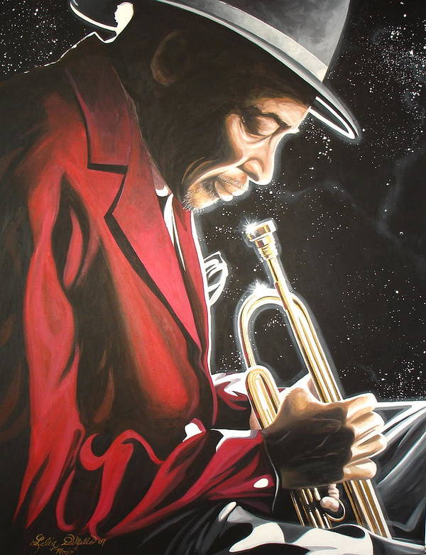 Jazz Art Print featuring the painting Mojo by Lelia DeMello