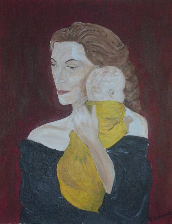 Mother Art Print featuring the painting Mother And Child by Jennifer Hernandez
