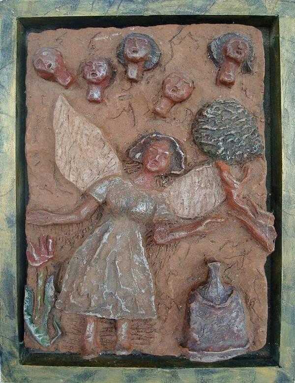Clay Art Print featuring the relief Natividad 1 by Lorna Diwata Fernandez