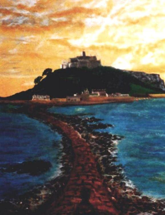 Beaches Art Print featuring the painting Near Penzance St. Michaels Mount by Richard Hubal