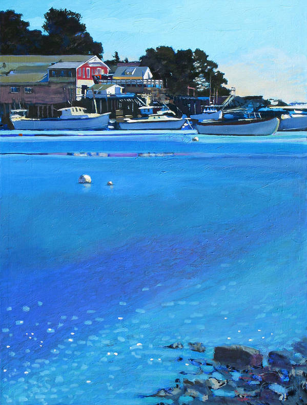 Maine Art Print featuring the painting New Harbor by Robert Bissett