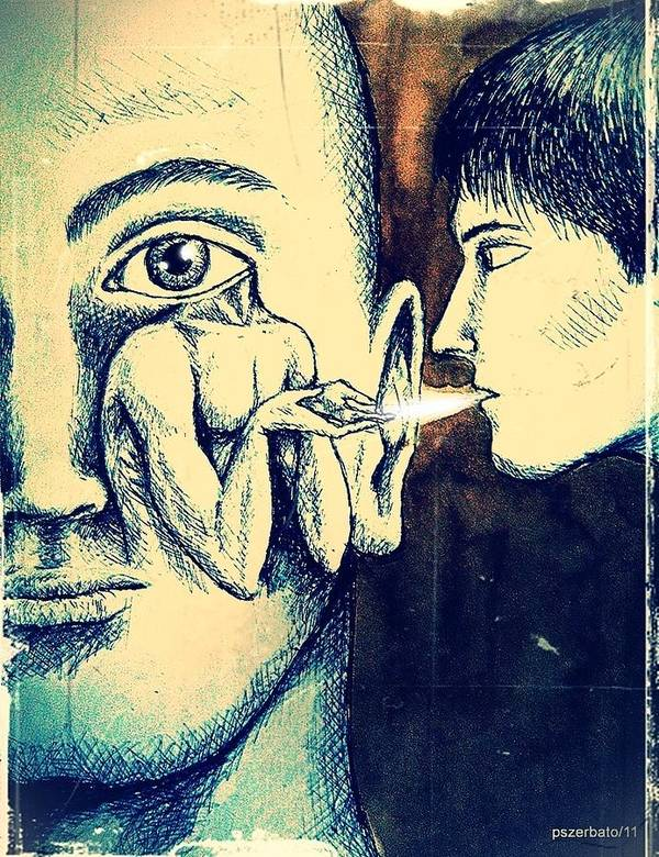 Knowledge Art Print featuring the digital art Oral Teachings by Paulo Zerbato
