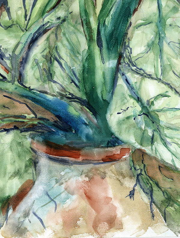 Plant Art Print featuring the painting Organic by Marilyn Barton