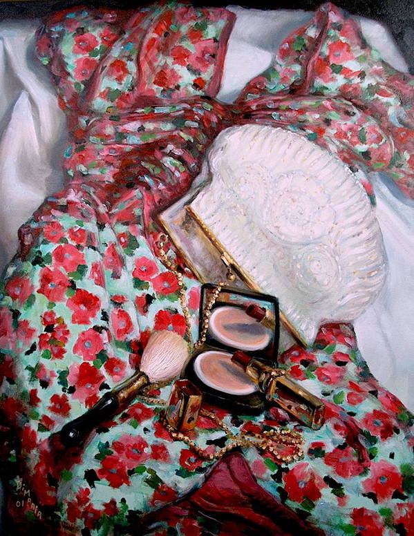 Realism Art Print featuring the painting Party Dress by Donelli DiMaria