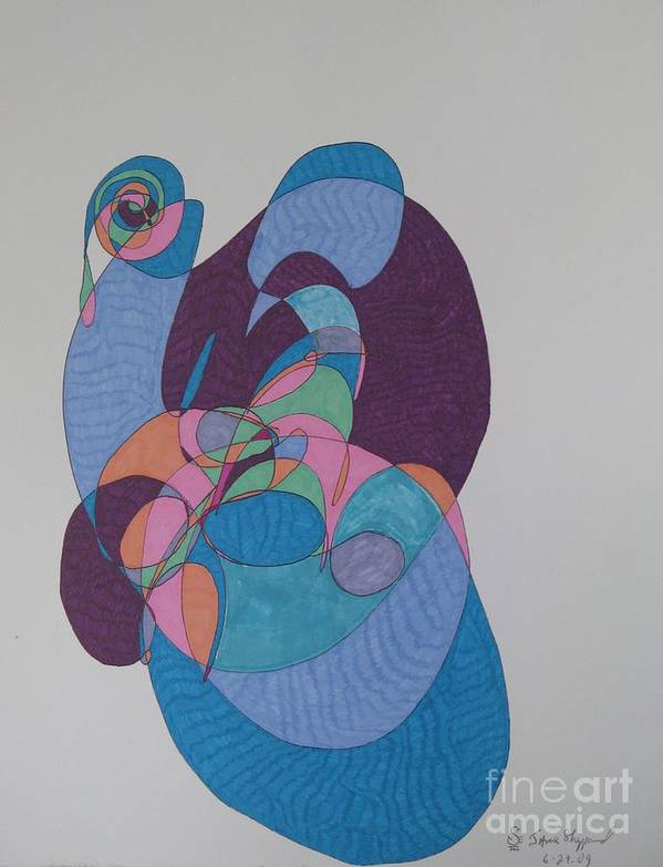 Abstract Pieta Art Print featuring the mixed media Pieta by James SheppardIII