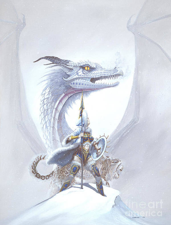 Dragon Art Print featuring the painting Polar Princess by Stanley Morrison