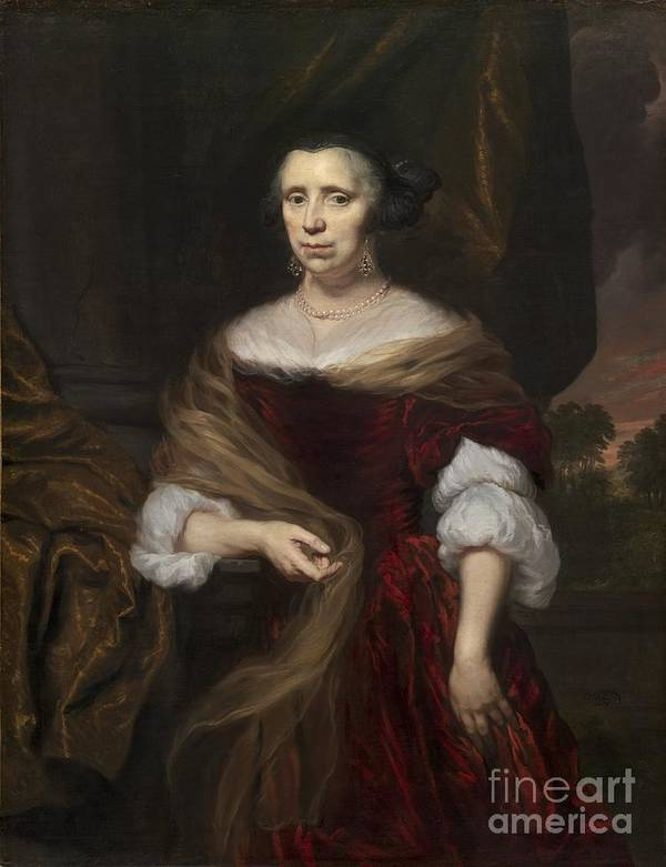 Art Print featuring the painting Portrait Of A Lady by Nicolaes Maes