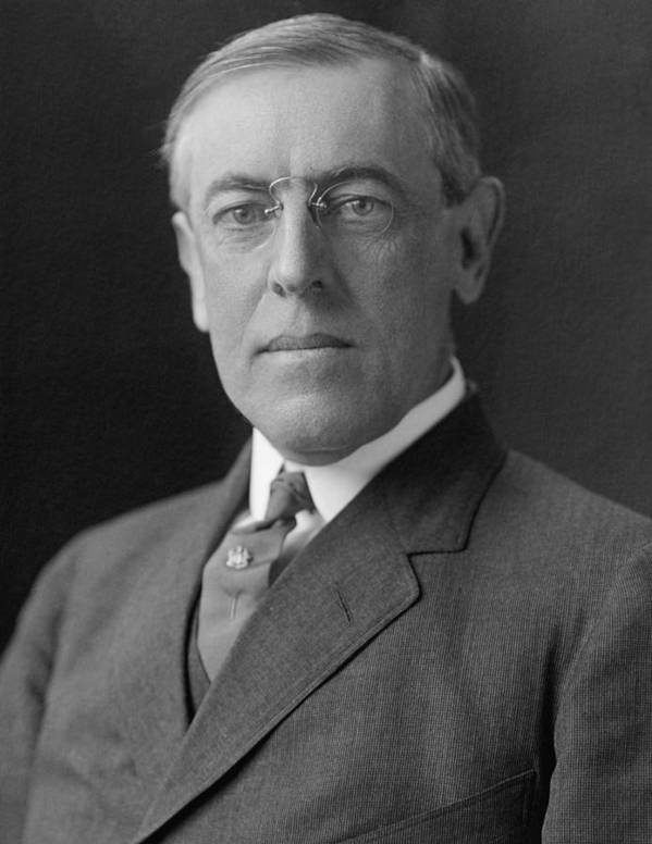 Woodrow Wilson Art Print featuring the photograph President Woodrow Wilson by War Is Hell Store