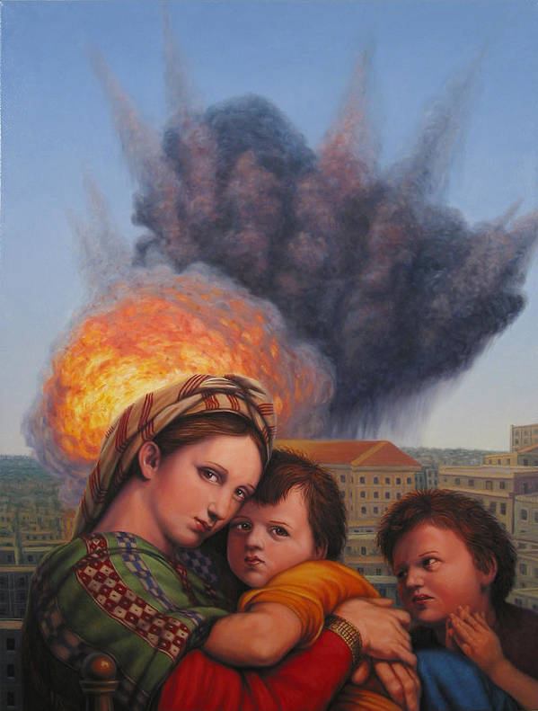 Madonna And Child Art Print featuring the painting Raphael Moderne by James W Johnson