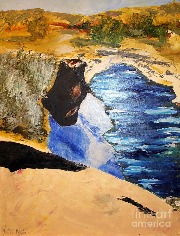 Art Print featuring the painting River Watch II by Ellen Young