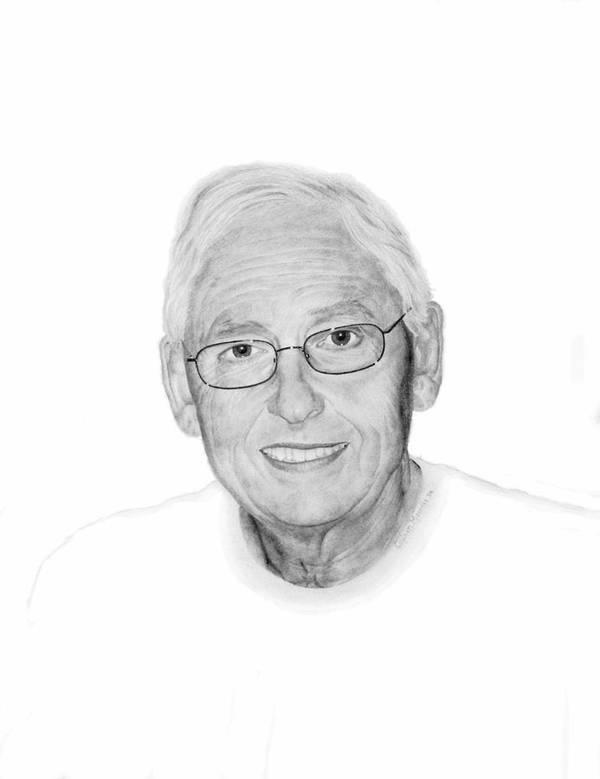 Portrait Art Print featuring the drawing Robert by Conrad Mieschke