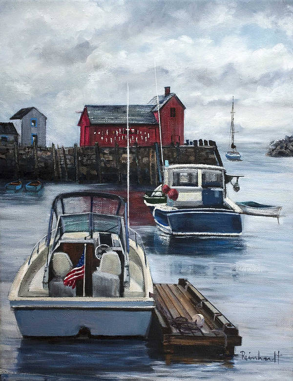 Motif #1 Print featuring the painting Rockport by Lisa Reinhardt