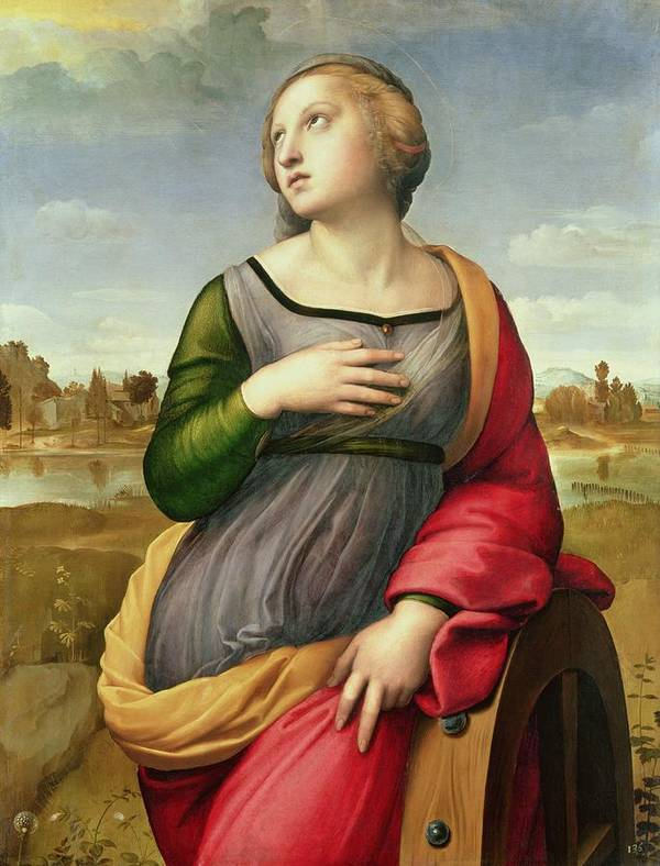 Raphael Art Print featuring the painting Saint Catherine Of Alexandria by Raphael