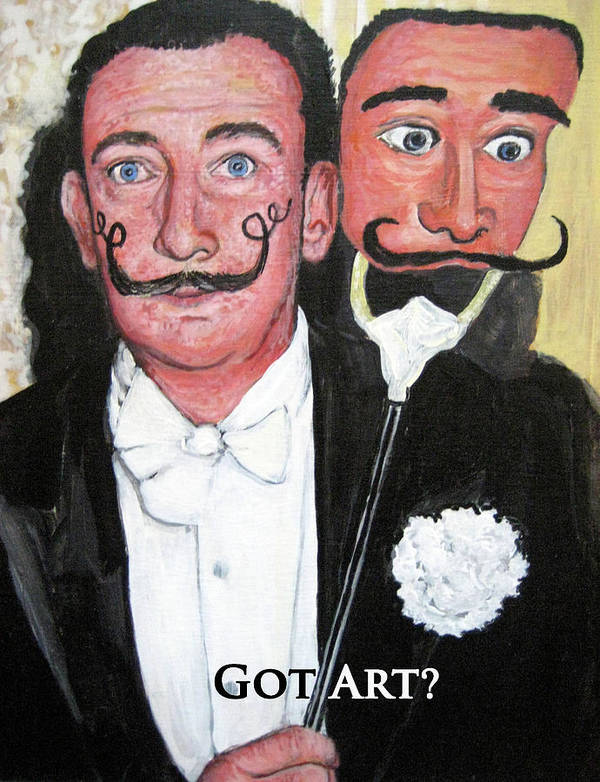 Dali Art Print featuring the painting Salvador Dali by Tom Roderick