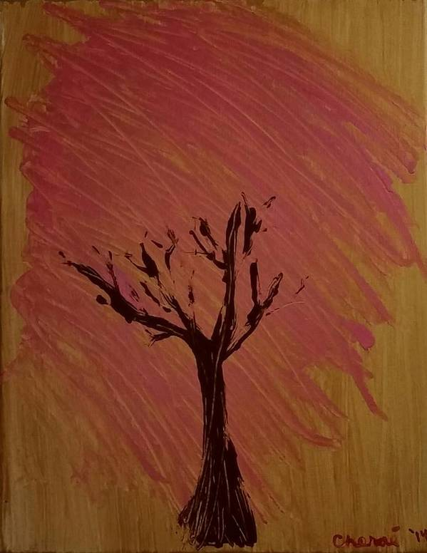 Tree Art Print featuring the painting Separate Place by Cherae Espino