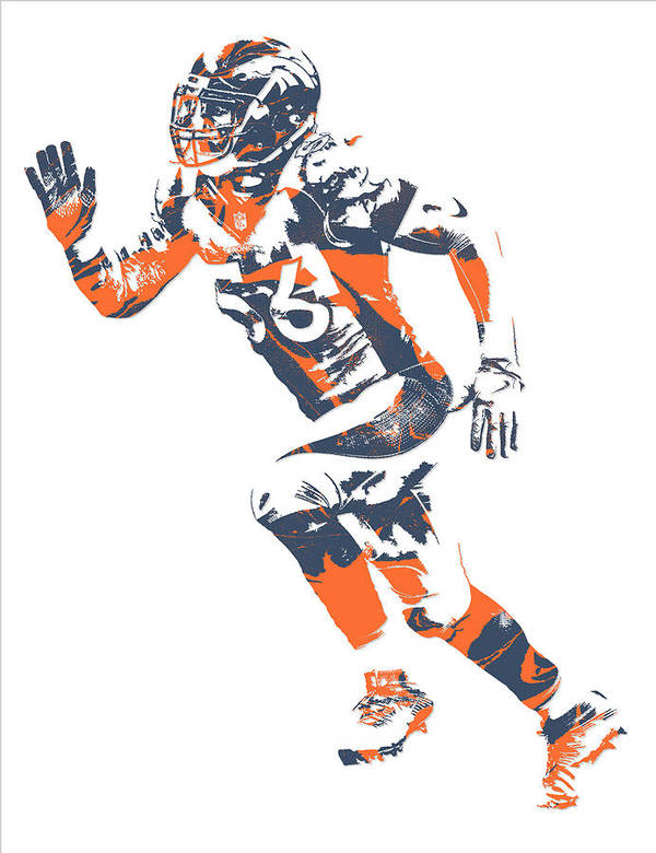 Shane Ray Denver Broncos Pixel Art 1 Art Print by Joe Hamilton