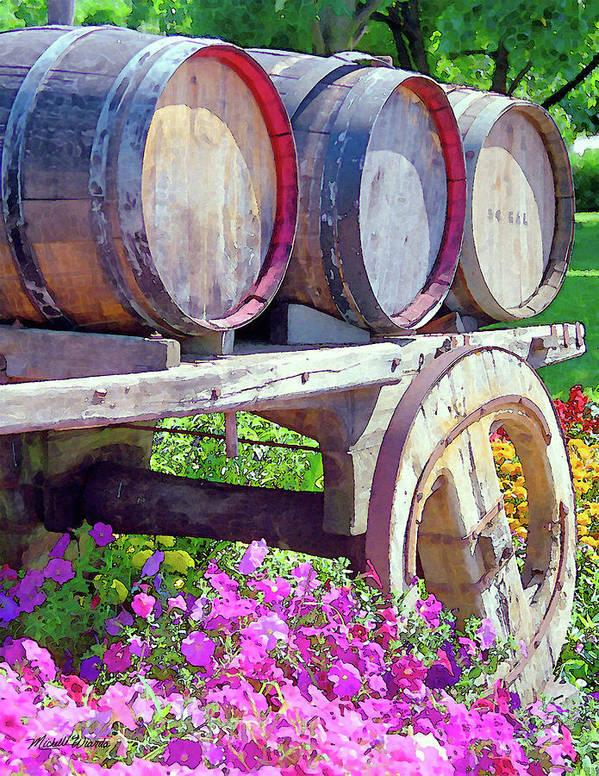V Sattui Winery Art Print featuring the digital art Springtime At V Sattui Winery St Helena California by Michelle Wiarda